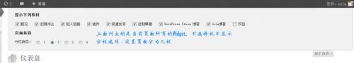 通过WordPress仪表盘的显示选项显示/隐藏Widget