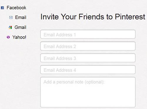 通过发送邮件邀请好友
