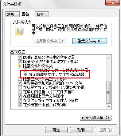 显示隐藏目录和文件