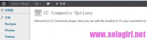 cc comments选项界面
