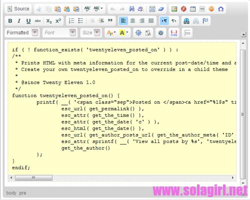 设置ckeditor.css后pre标签在编辑器中会有特殊样式