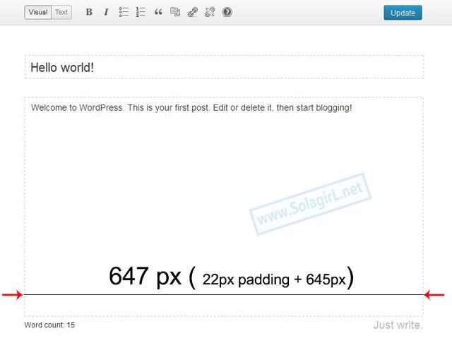 全屏编辑器内容区域的宽度
