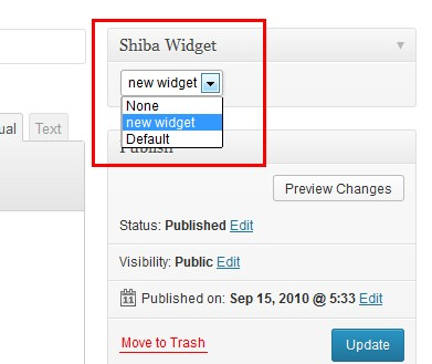 分配widget set