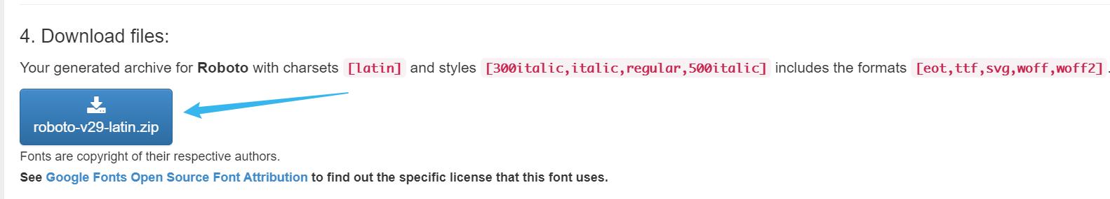 下载字体文件