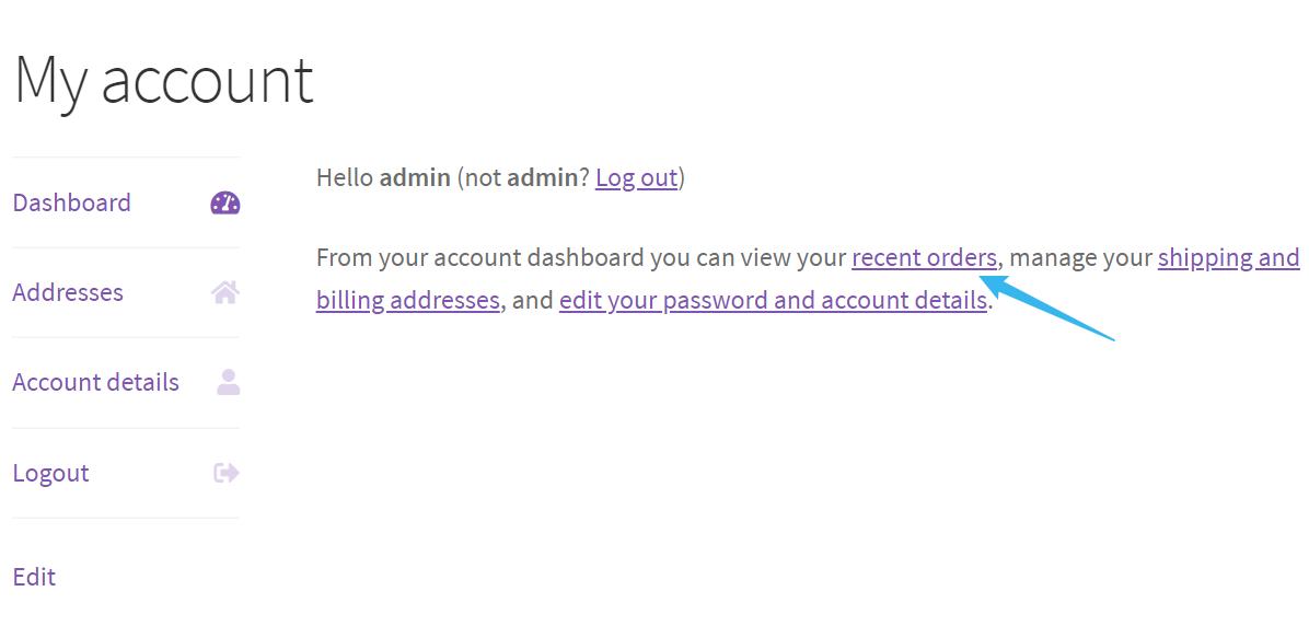 WooCommerce目录模式--我的账户链接